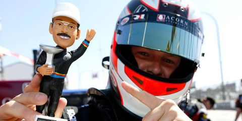 Team owner Bobby Rahal and Rahal Letterman Lanigan Racing are appealing fines issued to RLL drivers James Jakes, right, and Graham Rahal at the Indianapolis 500.