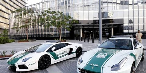 Forget Chargers and Crown Victorias, Dubai Police officers ride in style