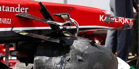 Felipe Massa's Ferrari took a big hit on Sunday at the Monaco GP.