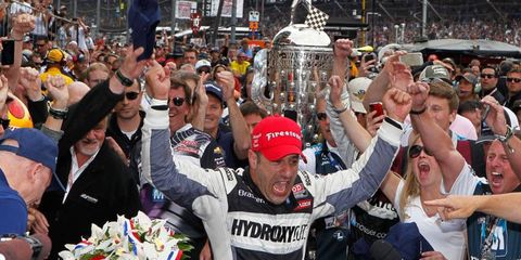 Tony Kanaan's victory on Sunday at the Indianapolis 500 came in his 12th try.