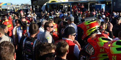 The crews of Jeff Gordon and Clint Bowyer tussled last year in Phoenix. Check out the other best fights in NASCAR history.