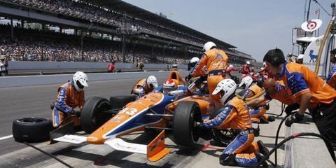 IndyCar is working on making its races faster, but still maintaining the highest level of safety for drivers and pit crew members.