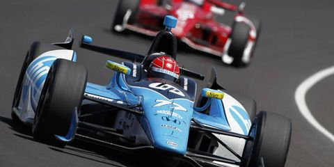 Simon Pagenaud led the way at Indianapolis Motor Speedway during Indy 500 practice on Friday.