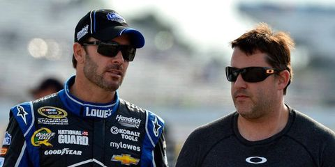 While Jimmie Johnson, left, is clearly in the hunt for a sixth NASCAR Sprint Cup Series title, Tony Stewart and his stable of drivers are in danger of missing the Chase altogether.