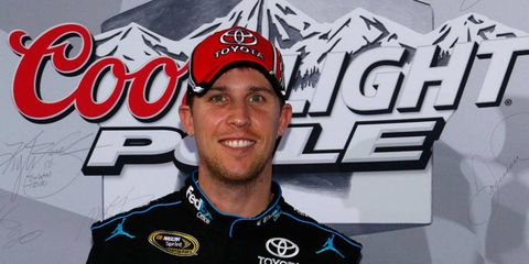 Denny Hamlin was one of eight drivers to break the previous qualifying record at Charlotte Motor Speedway on Thursday night.