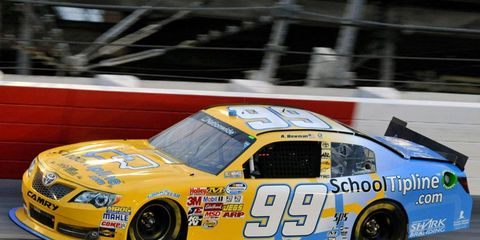 Alex Bowman was quickest overall in NASCAR Nationwide Series practice sessions at Charlotte Motor Speedway.