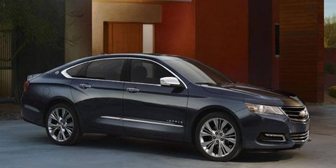 The 2014 Chevy Impala will sport the company's new 2.5-liter four.