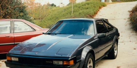 My second Toyota Supra was this blue 1984 with, ahem, period correct tinted windows.