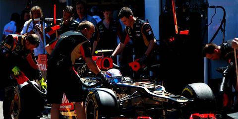 Romain Grosjean had a rough practice on Thursday. He crashed his car, putting it into the wall in Monaco.