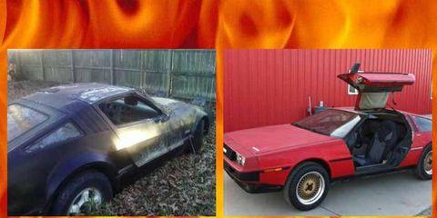 Project Car Hell honors Malcolm Bricklin and John DeLorean's gullwing goodies: the Bricklin SV-1 and DeLorean DMC-12.
