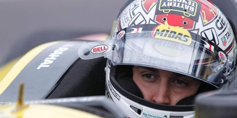 Graham Rahal will start the Indianapolis 500 from the 26th spot on the grid.