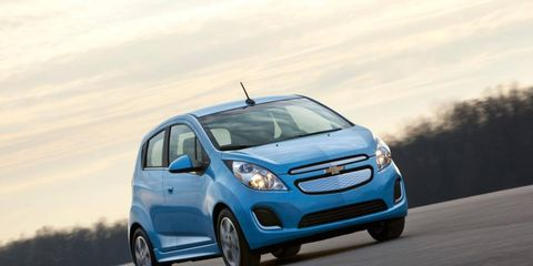 The 2014 Chevy Spark EV will go on sale in June in Oregon and California.