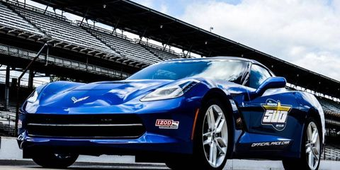 The 2014 Chevrolet Corvette Stingray will lead the field at the 97th Indianapolsi 500.