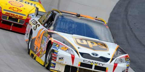 Dale Jarrett, the 1999 NASCAR Sprint Cup Series champion, is a rookie on the 2014 NASCAR Hall of Fame ballot. Here, Jarrett makes a run at Bristol during his final NASCAR season as a driver in 2008.