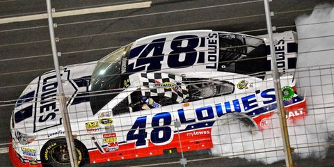 Jimmie Johnson's road to the NASCAR Sprint All-Star race win included a lesson in simple math.