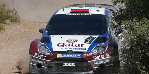 Evgeny Novikov leads the Acropolis Rally with two days remaining.