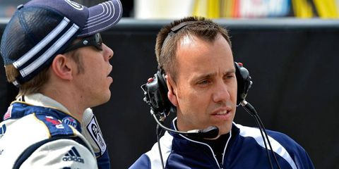 NASCAR Sprint Cup Series champion Brad Keselowski, left, has crew chief Paul Wolfe, right, back in the saddle this weekend in Dover after serving a two-race suspension.