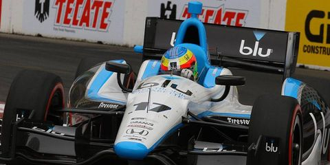 Mike Conway, seen hear at Long Beach earlier this season, has said he no longer wants to race an Indy car on ovals.