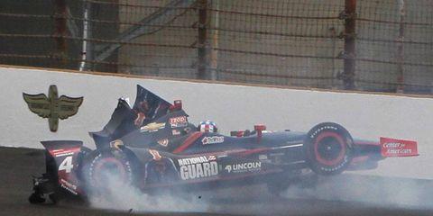 J.R. Hildebrand crashed on the fourth lap of last Sunday's Indianapolis 500.