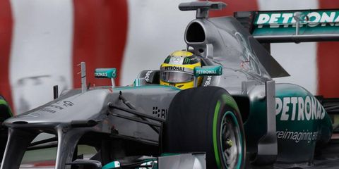 Nico Rosberg will start fourth in the Formula One Canadian Grand Prix at Montreal.