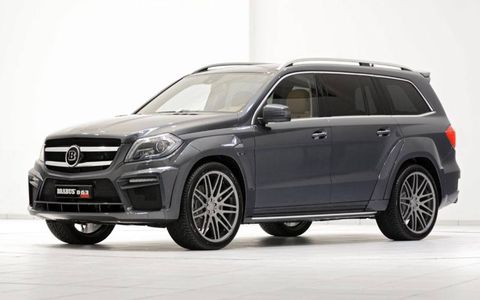 The Brabus kit adds three inches to width of the GL.