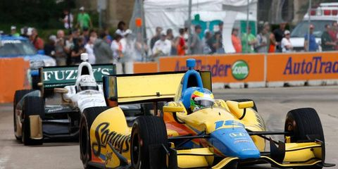 Mike Conway raced to the pole for the second race in Detroit. His car, as well as the rest of the cars in the field, could get a makeover for 2014 as new aero kits are expected to be unveiled soon.