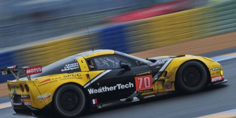 Cooper MacNeil, testing the Corvette at Le Mans, will be driving in his first 24 Hours of Le Mans this weekend.