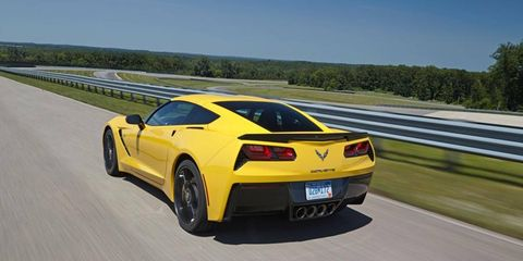The 2014 Corvette Stingray will go 0-60 in 3.8 seconds on its way to a 12-second quarter-mile.