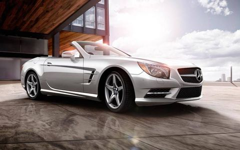 The 2013 Mercedes-Benz SL550 comes in at a base price of $106,405, with our tester topping off at $124,345.