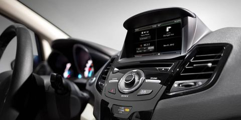 The 2014 Ford Fiesta will include an optional MyFord Touch system with a 6.5-inch touchscreen.