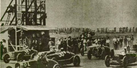 Tazio Nuvolari raced the Bugatti in the 1931 Rome Grand Prix.