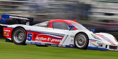 The team of Joao Barbosa and Christian Fittipaldi won the Grand-Am race Saturday at Mid-Ohio.
