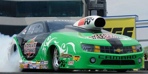 Mike Edwards is going for his fifth straight win at Bristol on Sunday in NHRA Pro Stock action.