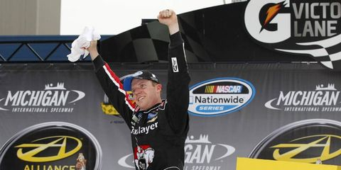Even though Austin Dillon led the way for much of the race, Regan Smith came away with the win this afternoon at Michigan International Speedway in the Nationwide race.