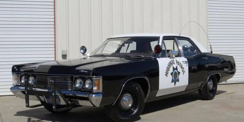There are two kinds of cop cars: the cool old ones and the terrifying new ones. This is the former.
