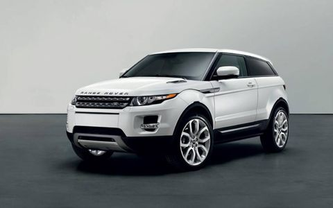 The 2013 Range Rover Evoque has a base price of $41,995 and out tester topped off at $56,795.