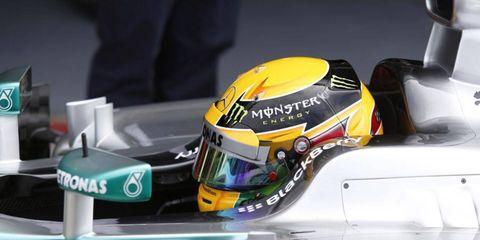 Lewis Hamilton took the pole for Sunday's Formula One race.