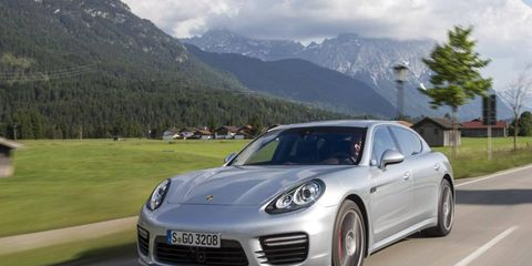 The 2014 Porsche Panamera gets extended wheelbase versions, shown here, along with an e-hybrid plug-in model.
