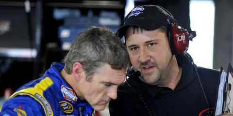 Bobby Labonte (left) hasn't missed a NASCAR Cup start since 1993, but that streak will end this week in Kentucky.