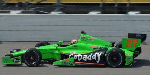 James Hinchcliffe won at Iowa to give him three wins in the Izod IndyCar Series this season.