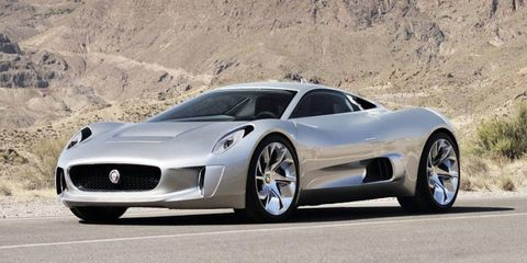 The Jaguar C-X75 was revealed in 2010 at the Paris Motor Show