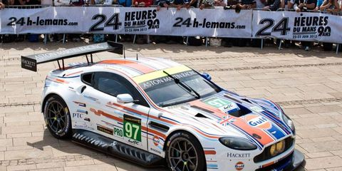 The winning fan-designed livery for one of five Aston Martin entries in the 24 Hours of Le Mans has been unveiled.