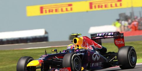 Mark Webber had a rough start at Silverstone on Sunday, but managed to work his way back up and take second.