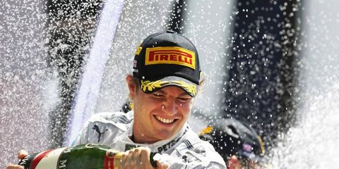 Nico Rosberg was able to avoid a penalty during Sunday's race, a contest he later won.