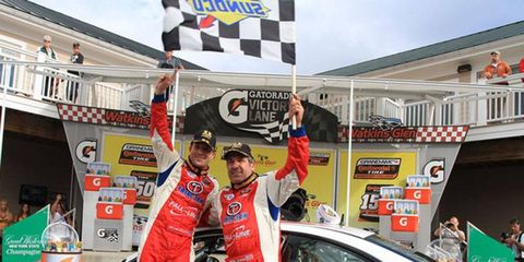 Bryan Sellers was able to get around Matt Plumb on the final lap to win the Continental Tire 150 at Watkins Glen.