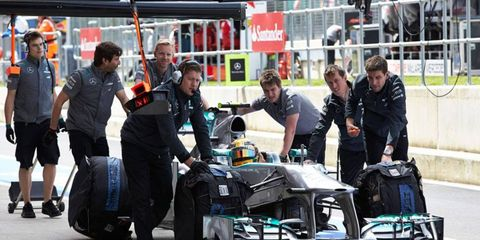 Mercedes will not be allowed to participate in the next Formula One Young Drivers Test.
