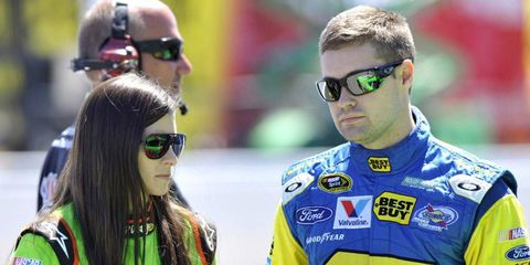 Apparently Shaq doesn't know that Danica Patrick is already taken by fellow driver Ricky Stenhouse Jr...