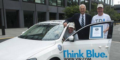 VW Passat TDI Clean Diesel sedan sets 48-state gas mileage record