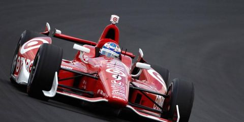 Scott Dixon gave Ganassi Racing its first victory of the 2013 IndyCar season on Sunday at Pocono.