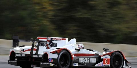 Lucas Luhr and Klaus Graf were strong at Lime Rock, winning the ALMS race.